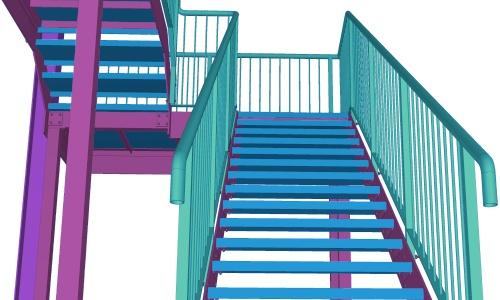 Tekla Structures Trappen & leuningen