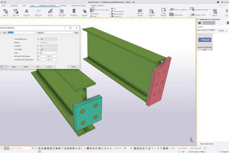 Tekla Structures Farrat Thermal Break Plates