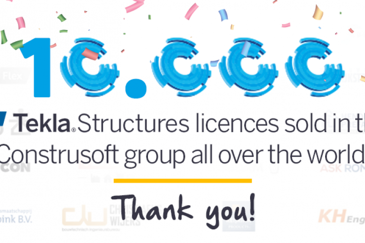 Construsoft hits the milestone - 10,000 Tekla Structures licenses sold
